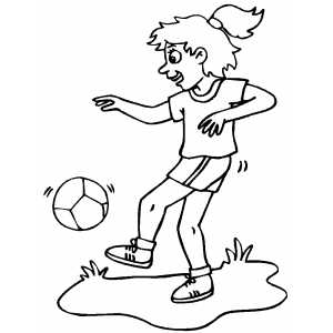 Soccer Player Girl coloring page