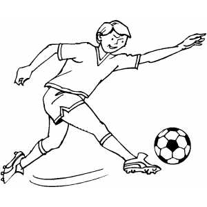 Soccer Player Strike coloring page