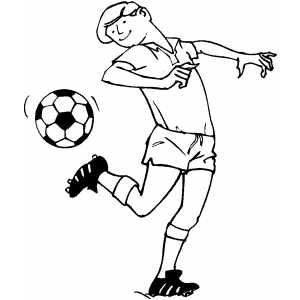 Soccer Tricks coloring page