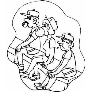 Softball Players coloring page