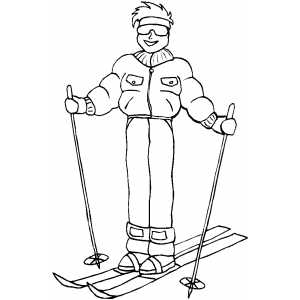 Standing Skier coloring page