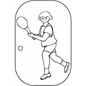 Tennis Player Girl coloring page