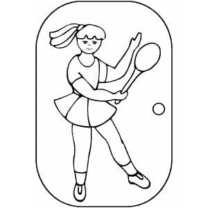 Tennis Strike coloring page