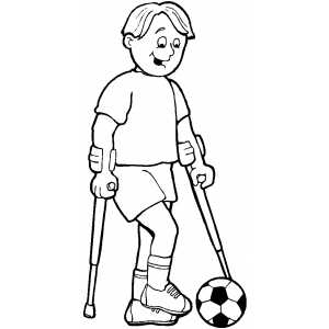 Wounded Soccer Player coloring page