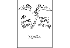 Iowa State Flag Coloring Page