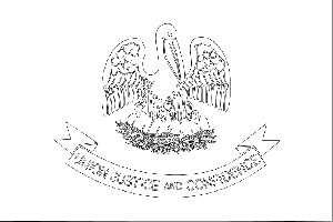 Louisiana State Flag Coloring Page