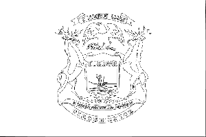 Michigan State Flag Coloring Page