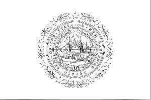 New Hampshire State Flag Coloring Page
