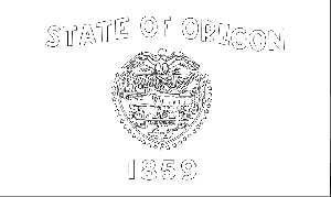 Oregon State Flag Coloring Page