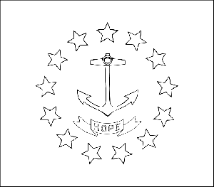 Rhode Island State Flag Coloring Page