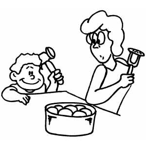 Mashing Potatoes coloring page