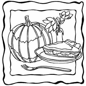 Pumpkin pie clipart black and white - Coloring Pages   300x300
