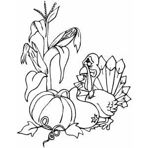 Sad Turkey coloring page