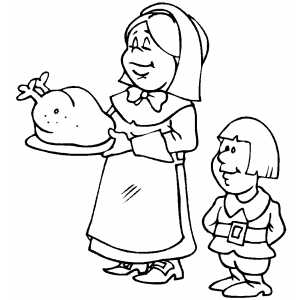 Serving Turkey coloring page