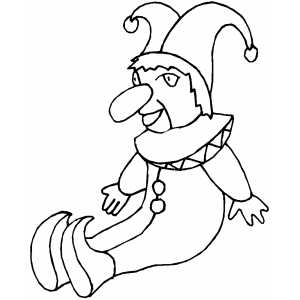 Jester Doll coloring page