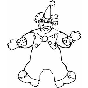 Stuffed Clown coloring page