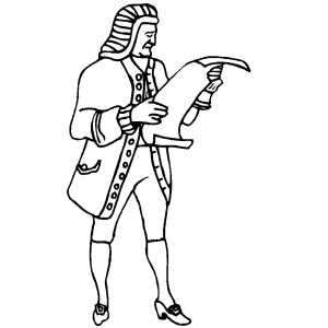 colonists coloring pages | Colonial Man Coloring Page