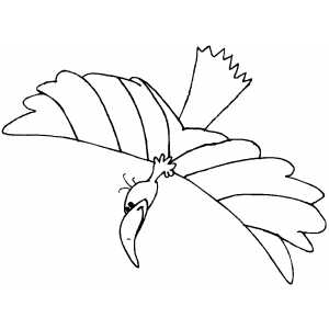 Eagle Flag coloring page