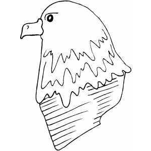Eagle Head coloring page