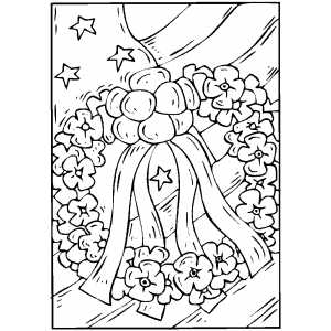 Flag And Wreath coloring page