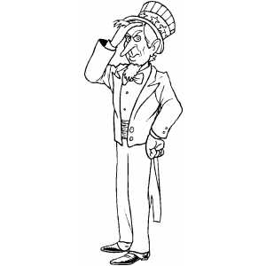 Frustated Uncle Sam coloring page
