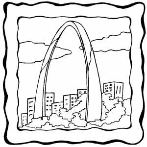Gateway Arch coloring page