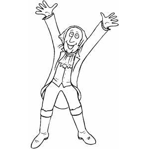 Happy George Washington coloring page