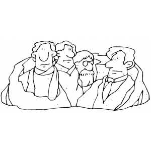 Mount Rushmore coloring page