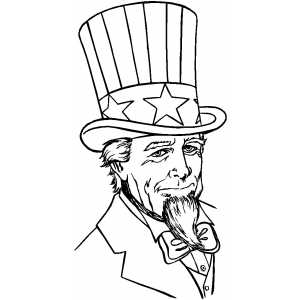 Serious Uncle Sam coloring page