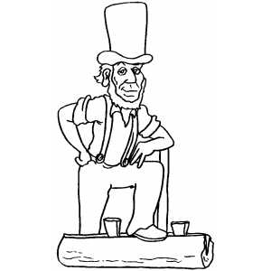 abe lincoln coloring pages printable - photo#27