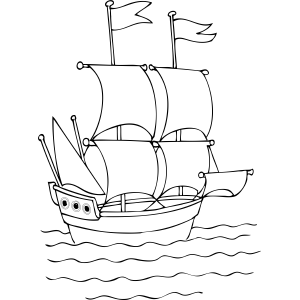 Tall Ship coloring page