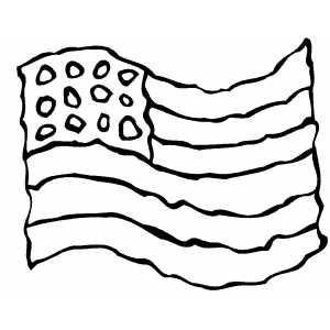 Waving flag coloring page for Heart american flag coloring page