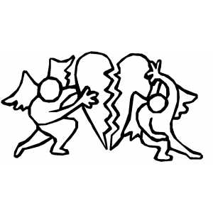 Angels Mending Heart coloring page