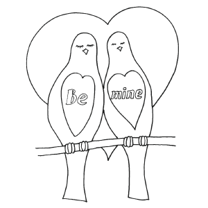 Be Mine Valentine coloring page