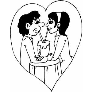 Couple In Love coloring page