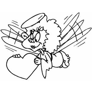 Cupid Girl coloring page