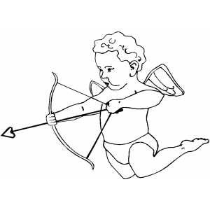 Cupid Ready To Shoot coloring page