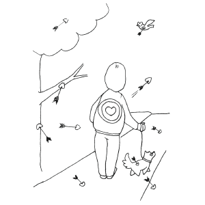 Cupids Arrows coloring page