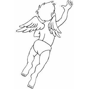Flying Cupid coloring page