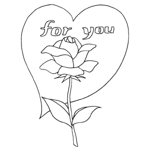 For You Valentine coloring page