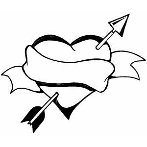 Heart And Arrow coloring page