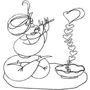 Heart Charmer coloring page