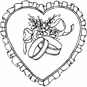 Heart With Ornament coloring page