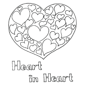 Heart in Heart coloring page