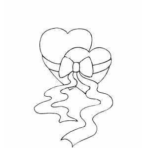 Hearts Together coloring page