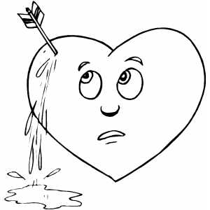 Pierced Heart coloring page