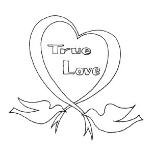 True Love coloring page