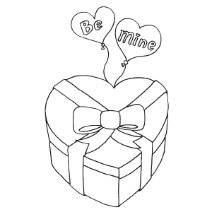 Valentine Candy Box coloring page