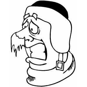 Frozen Nose Coloring Page
