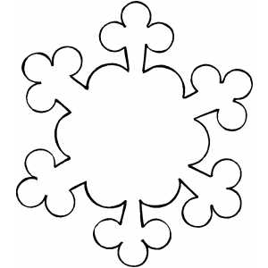 Ornament Snowflake coloring page